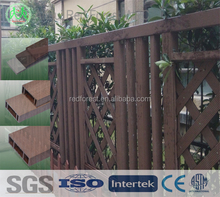 decorative wood plastic cheap garden fencing post