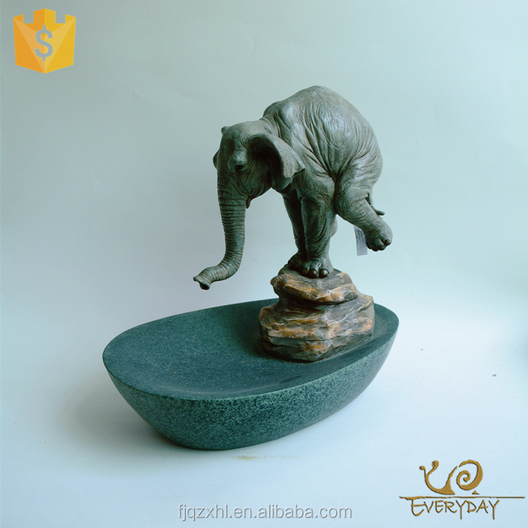 ED11751B Hot Selling Resin Craft Decor Elephant Chinese Indoor Garden Water Fountain for Sale