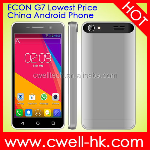 ECON G7 4 Inch Touch Screen Lowest Price Double Cameras China Android smart Phone