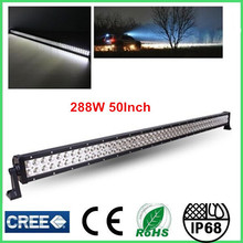 china wholesale 288w car led light bar ip68 off road lights 50 inch car led headlight for toyota