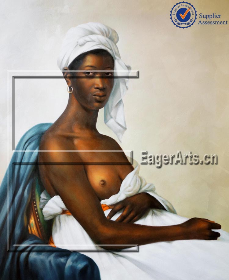 High Quality Modern Beautiful Lady Figure Art Nude African Women Oil Painting