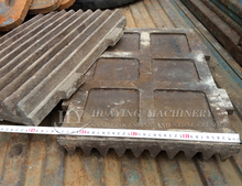 Stone jaw crusher casting accessories jaw plate jaw liner