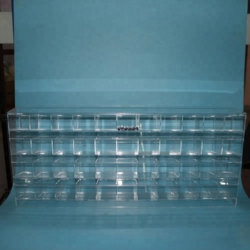 WeiHai Clear Acrylic 4 Layers  Pen Shelf With 11Columns 44 Slots