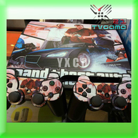 High Quality Classic Style UV Carbon Fiber Controller Skin Console Stickers For PS3 Slim Protective Skin