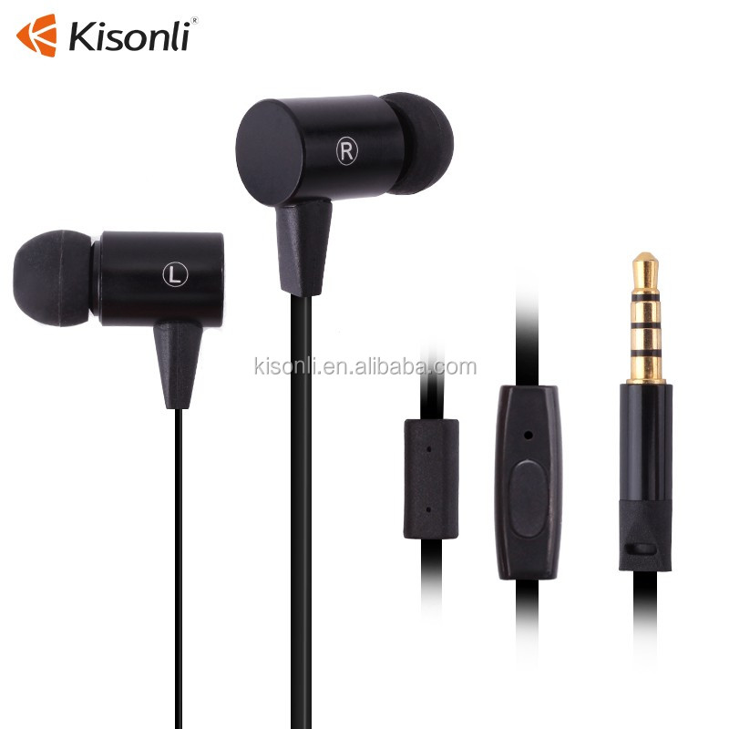 Earphones Earbud Headset Headphone With Mic For Apple iPhone 5 6 For iPod 3.5