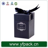 High End Chip Cardboard Black Printing Ribbon Decorative Oil Perfume Box Packing