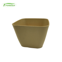 Biodegradable unbreakable bamboo fiber flower pot