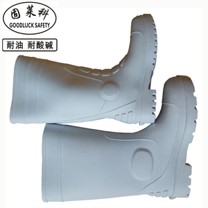 Steel Toe Safety PVC Black Boots