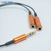 Customized 3.5mm male to female aux cable splitters with volume control feature
