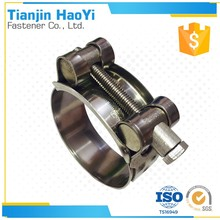 High pressure type hose clamp of Single solid T-bolt heavy duty