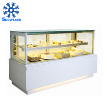 Luxury Marble Commercial Display Cake Refrigerator Showcase With Anti-Fog Function