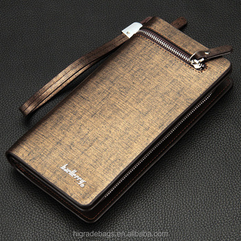 High capacity men's pu leather wallet wholesale