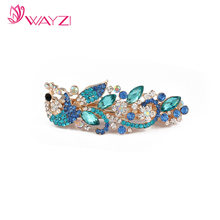 WayZi brand wholesale good quality new arrival women metal flat hair barrette