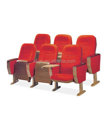 Steel+Wood Material and Commercial Furniture General Use Foldable multimedia lecture chair