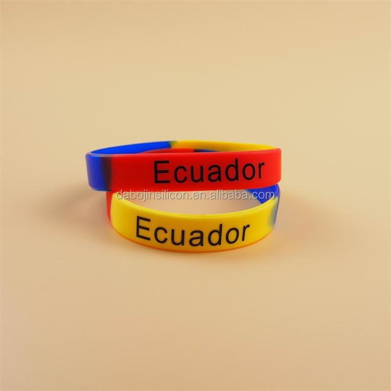 Pulseras de silicona ecuador
