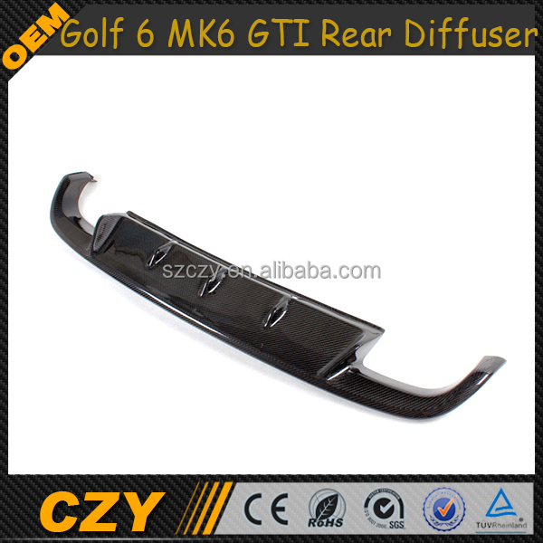 Golf VI GTI Carbon Diffuser Auto Rear Lip Diffuser VW Golf6 MK6 GTI