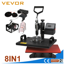 8 in 1 manual multipurpose plate transfer mug sublimation t-shirt printing combo heat press machine