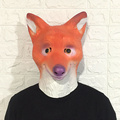 animal Head Mask Rubber Latex Halloween Party Animal Prop Creepy Cosplay Costume