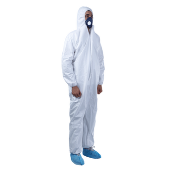 Disposable Protective Clothing 50gsm Microporous Waterproof Industrial Safety Coverall