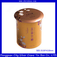 Wholesale decorative tea tin box with attractive lid