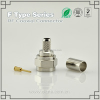 F Type Plug /Male Straight Crimp for RG58_RG400 Coaxial Cable Connector