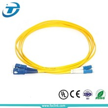 Outdoor sm 9 125 fiber patch cord SC LC FC duplex types of fiber optic patch cable