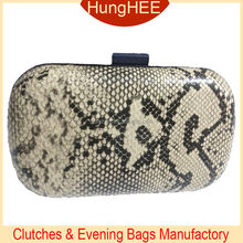 FACTORY BEST SELL Python PU Leather Evening Clutches