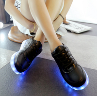 Manufacturer wholesale good price man LED shoes High quality PU leather sneakers light Shoes
