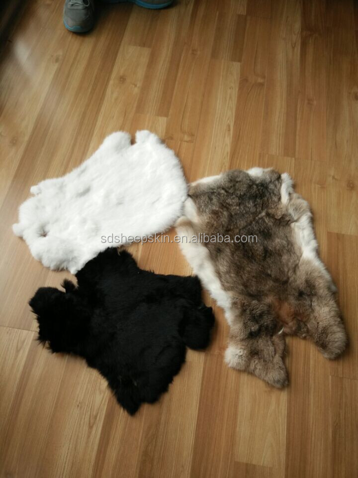 High Quality Genuine Raw Rabbit Skin Chinchilla Fur For