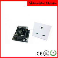 UK 250V AC Electrical Power 3-Pin Socket Outlet 13a black white color available