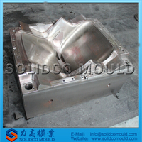 plastic injection chair mould, chair shell mould, chair mold with armrest