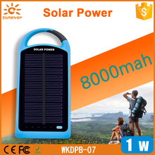 Factory wholesale 4000-8000Mah solar energy power bank for smartphone