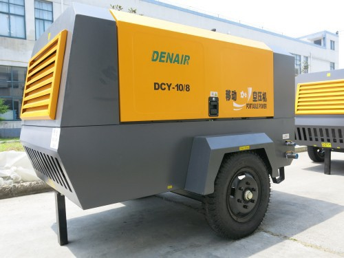 1 stage compression diesel driven portable air compressor
