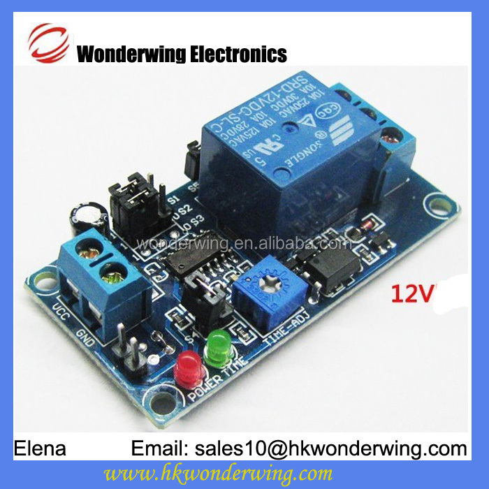 12V normal open trigger delay relay electronic module vibration module