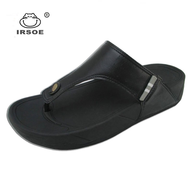 2019 High quality new style men leather slippers and sandals IRSOE men shoes