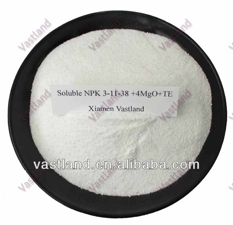 Chemicals powder npk fertilizer 3-11-38+4mgo