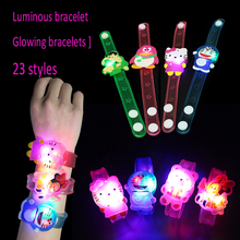 hot children's gift Christmas glowing bracelet,kids flash cartoon band christmas gifts for kids(pr2172)