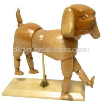 Dog Manikin Promotion Trendy Wooden Little Models Decoration Articulated Poseable Wooden Elephant craft Manikins For Sale