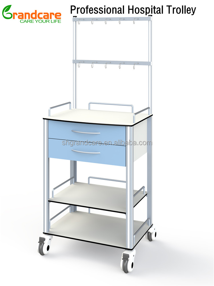 G-TN010 Medical Nurse Infusion Trolley with 10 bottle hangers