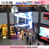 Completely transparent programmable XW5 led dot matrix soft glass flexible led curtain display/ wall galss led display