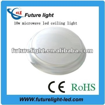Made in China 10w 2700-7500K smd3014 led microwave sensor ceiling light