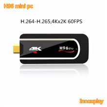 Portable H96 mini pc android smart tv stick V4.1 usb wifi dongle Amlogic S912 H.265 4K Player H96 mini fire tv stick