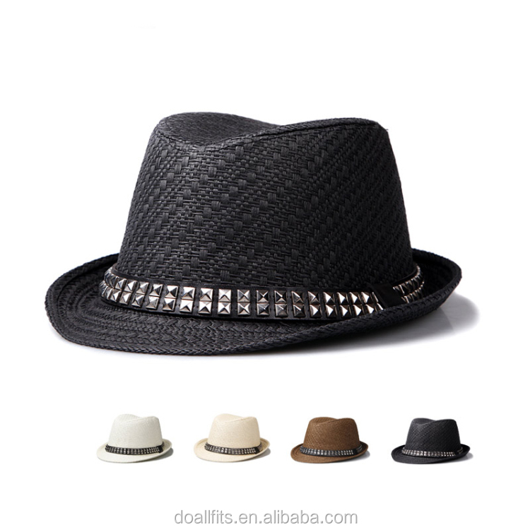 Wholesale Fashion Children Bright color Fedora Billycock Hats straw hats
