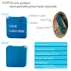 Private label portable rohs abs mobile power bank charger for cell phone mobile