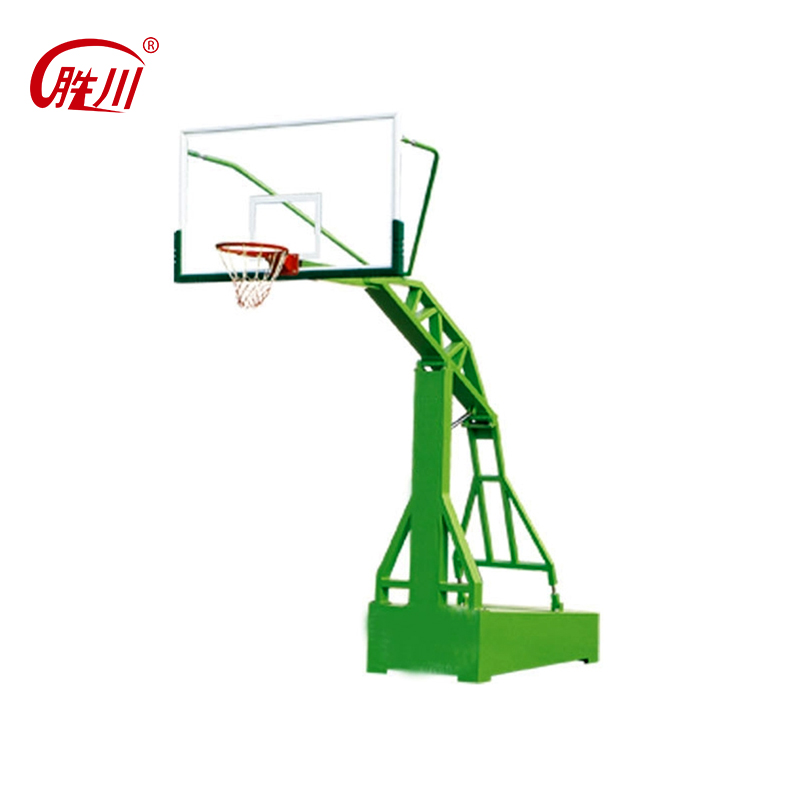 Cangzhou removable ground basketball stand for school with glass backboard