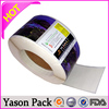 Yason silver label/sticker custom sythetic sticker clear pvc stickers
