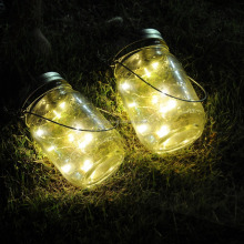 Mason Jar Lights,10 LED Warm White Solar Fairy Lights Lids Insert for Wedding Christmas Holiday Party Decorative Lighting Fit