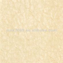 Glazed yellow polished porcelain tile with real marble stone pattern