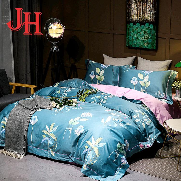 Home textile superior quality soft plain printed bed sets