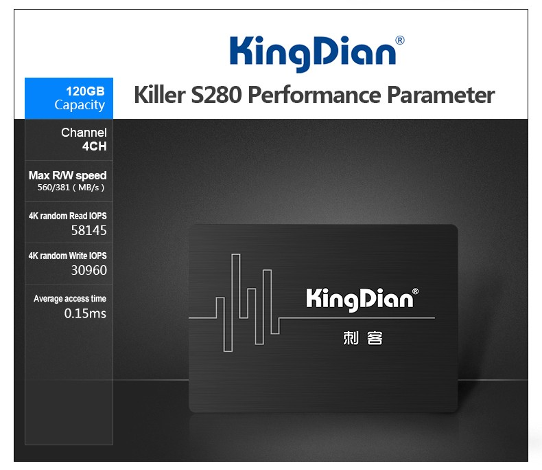 KingDian Solid State Drive ssd 480gb 240gb 120gb sata3 2.5inch ssd Internal/External Hard Drive For MacBook and PC